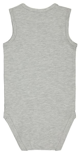 romper singlet katoen stretch grijsmelange grijsmelange - 1000022898 - HEMA