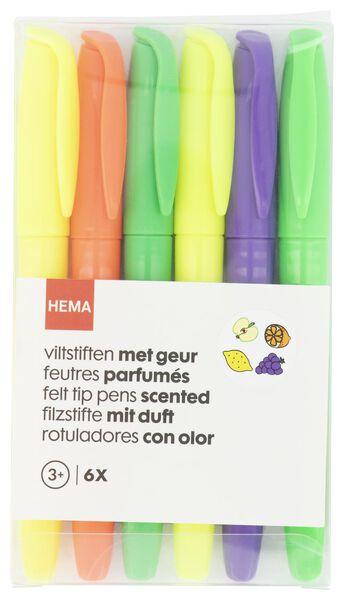 viltstiften met geur - 6 stuks - 15970131 - HEMA
