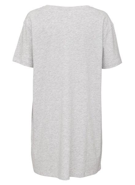 dames nachthemd katoen grijsmelange grijsmelange - 1000013158 - HEMA
