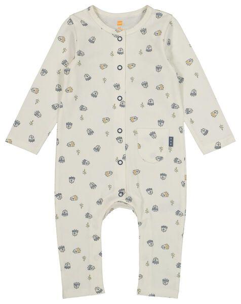 newborn jumpsuit gebroken wit gebroken wit - 1000022287 - HEMA