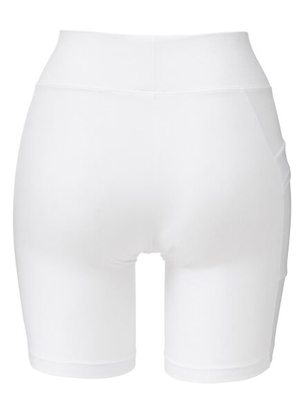 dames fietsshort real lasting cotton wit wit - 1000013217 - HEMA