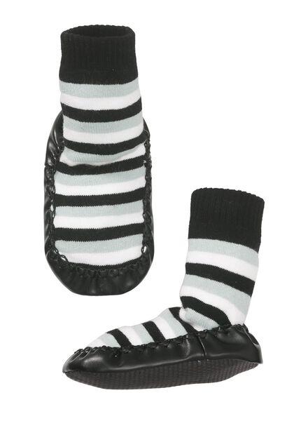 baby sokslof zwart/wit zwart/wit - 1000010405 - HEMA