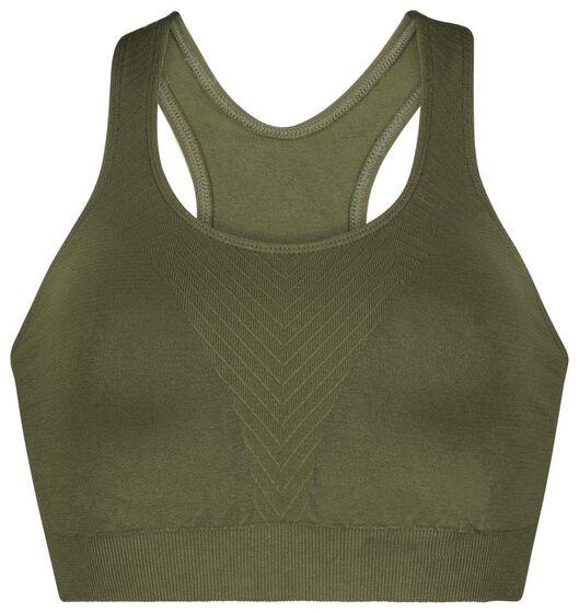 sporttop medium support naadloos groen groen - 1000022055 - HEMA