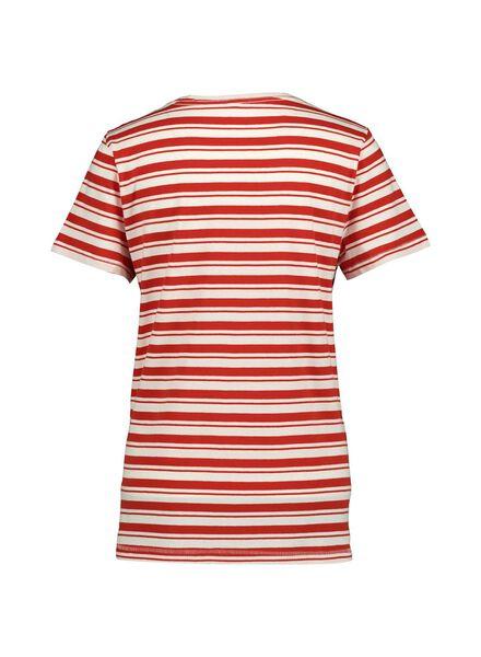 dames t-shirt rood rood - 1000014336 - HEMA