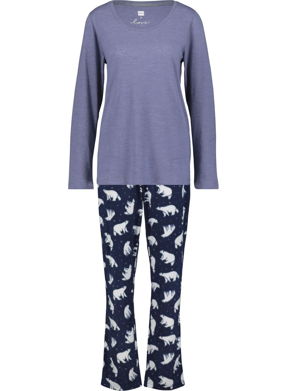 HEMA Dames Pyjama Donkerblauw (donkerblauw)