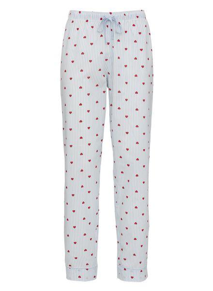 dames pyjamabroek katoen lichtblauw lichtblauw - 1000011879 - HEMA