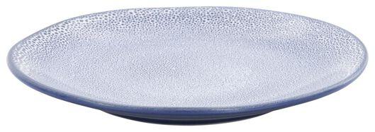 ontbijtbord 23cm Porto reactief glazuur wit/blauw - 9602251 - HEMA