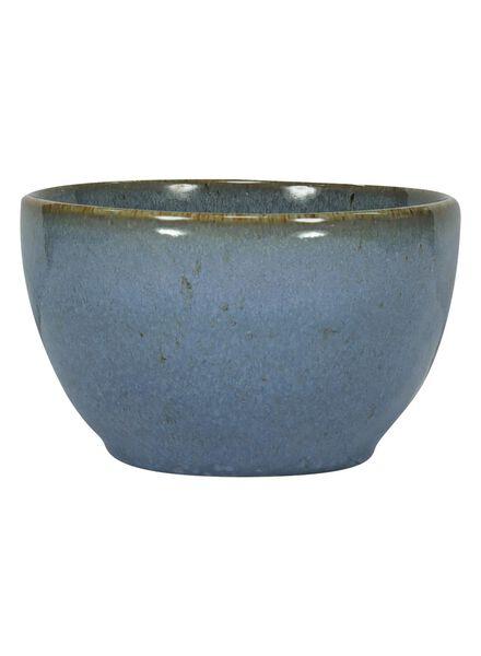 schaal - 10 cm - Porto - reactief glazuur - blauw - 9602027 - HEMA