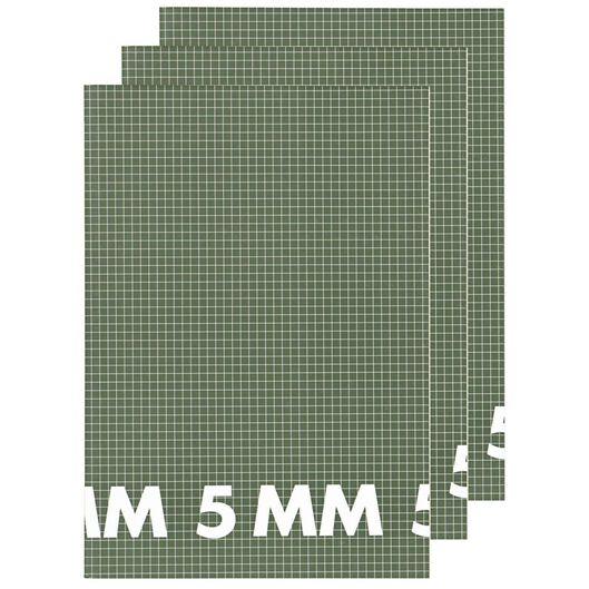 Schriften A4 - geruit 5 mm - 3 stuks - in Schriften