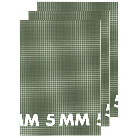 schriften A4 - geruit 5 mm - 3 stuks - 14101623 - HEMA
