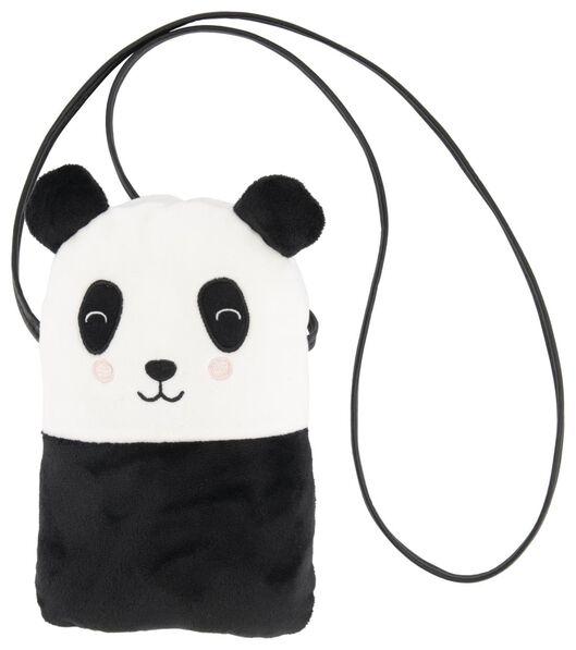telefoontasje pluche panda - 61133301 - HEMA