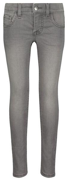 kinderjeans skinny fit grijs 164 - 30879773 - HEMA
