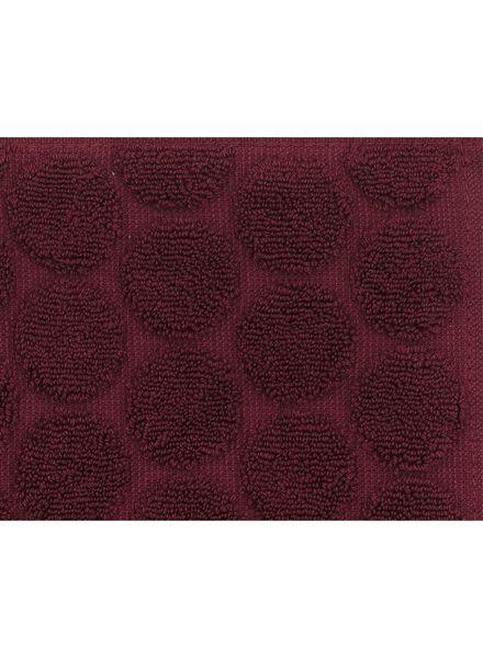 handdoek -  70 x 140 cm -  zware kwaliteit - bordeaux stip - 5220009 - HEMA