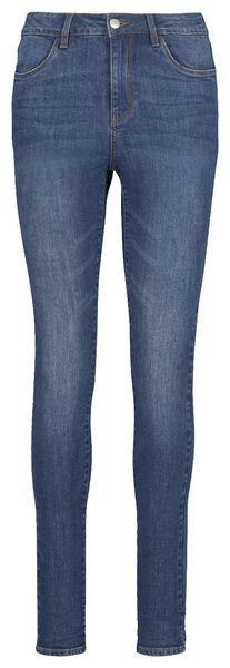 dames jeans - skinny fit middenblauw middenblauw - 1000018243 - HEMA
