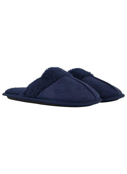 damessloffen donkerblauw donkerblauw - 1000017109 - HEMA