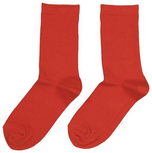 damessokken rood rood - 1000020048 - HEMA