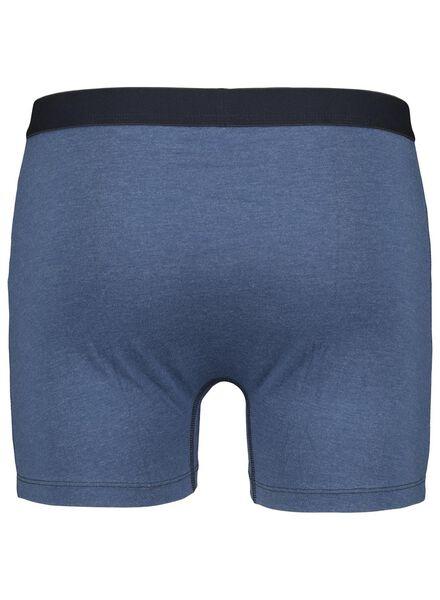 3-pak herenboxers lang blauw blauw - 1000015709 - HEMA