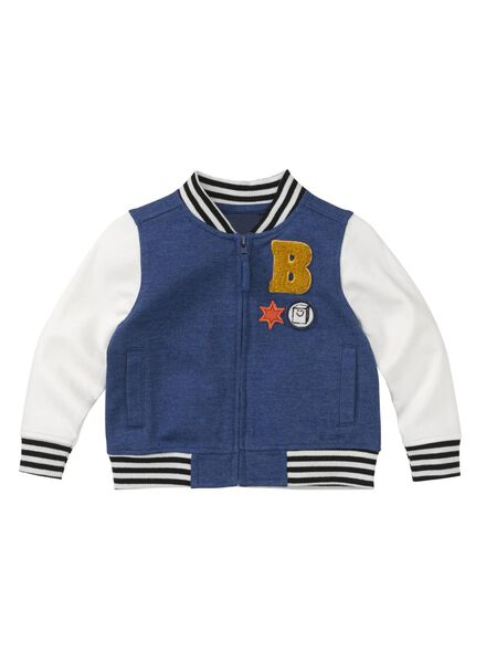 baby baseball jas blauw blauw - 1000008448 - HEMA