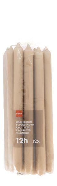 lange huishoudkaarsen - 28 cm - 12 stuks - bruin zalmroze 2.2 x 29 - 13501934 - HEMA