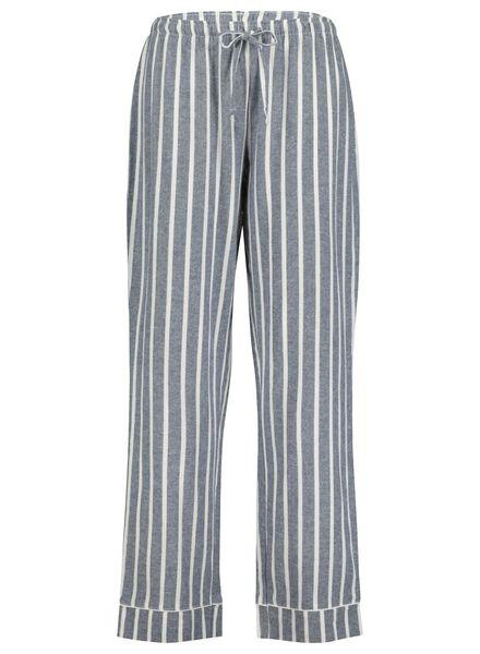 dames pyjamabroek donkerblauw donkerblauw - 1000017235 - HEMA
