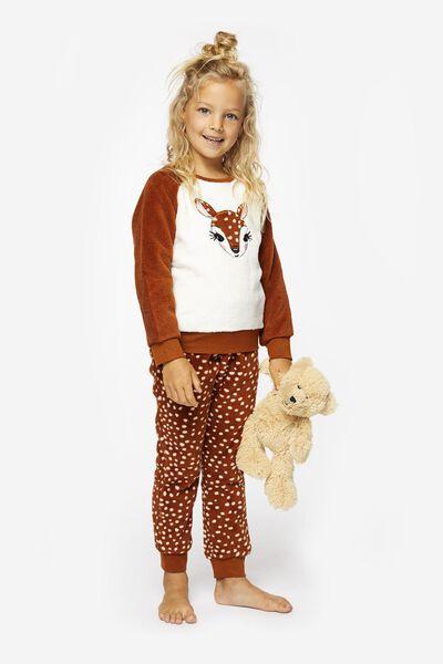 kinderpyjama fleece hertje roze roze - 1000020774 - HEMA