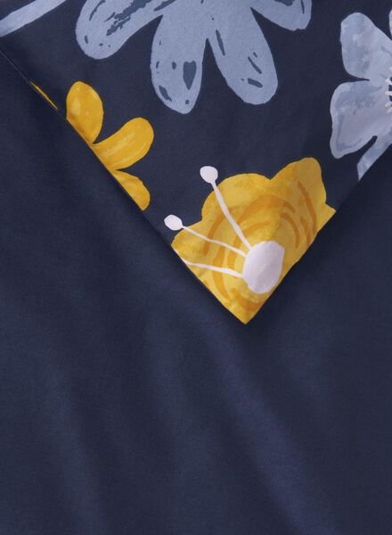 dekbedovertrek - 200 x 200 - hotel katoen satijn - blauw bloem - 5710077 - HEMA