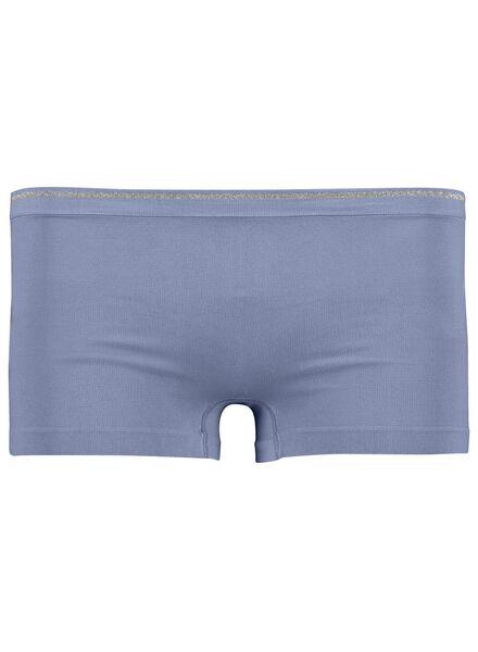damesboxer naadloos micro blauw blauw - 1000013646 - HEMA