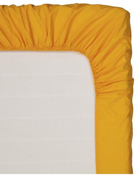 hoeslaken - zacht katoen - 90 x 200 cm - okergeel - 5100038 - HEMA