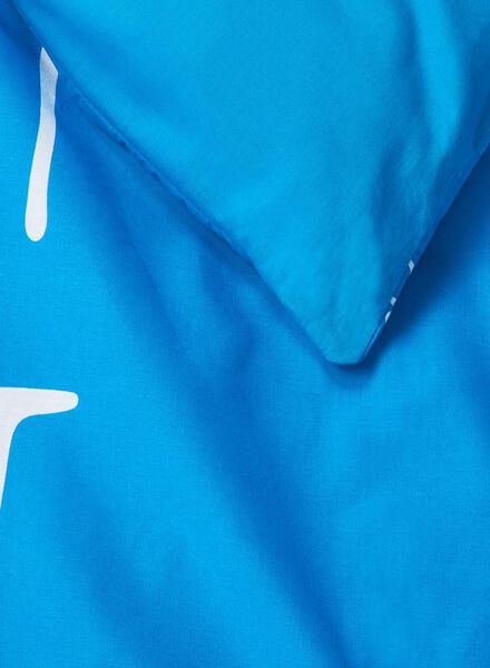 dekbedovertrek - zacht katoen - 240 x 220 cm - blauw sterren blauw 240 x 220 - 5700028 - HEMA