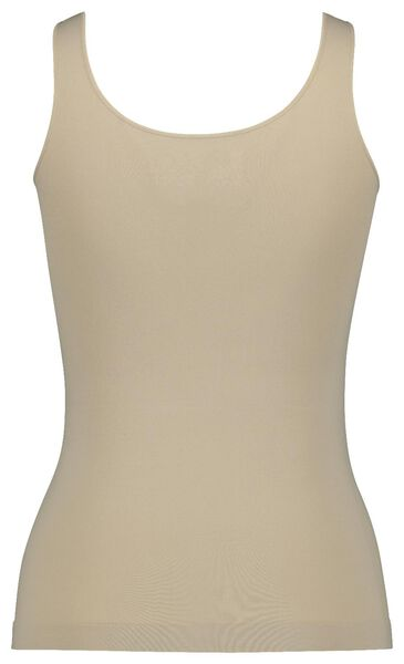 dameshemd naadloos micro beige L - 19604103 - HEMA