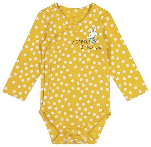 newborn overslagromper - nijntje - organic katoen stretch geel geel - 1000019483 - HEMA
