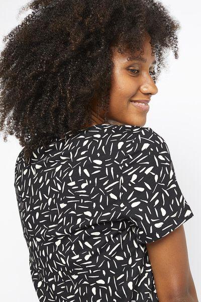 dames t-shirt zwart zwart - 1000021353 - HEMA