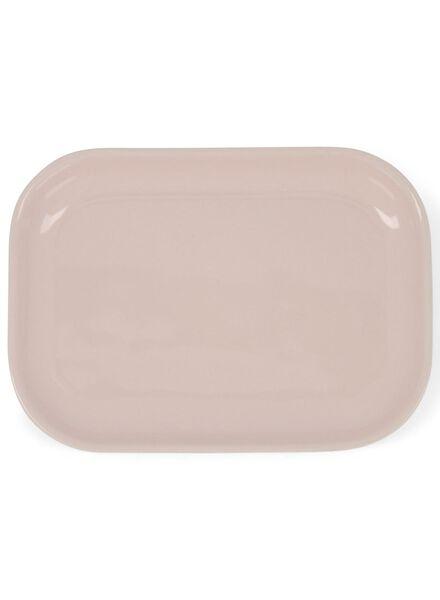 bord - 14.5 x 10 cm - roze - 9602069 - HEMA