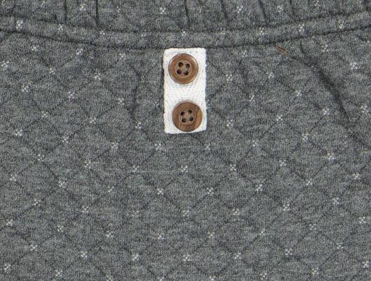 newborn broek doorgestikt grijs grijs - 1000020426 - HEMA