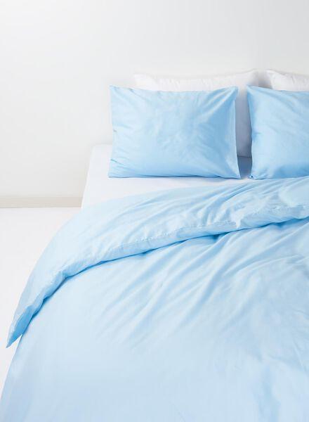dekbedovertrek - zacht katoen - 140 x 200 cm - lichtblauw - 5700071 - HEMA