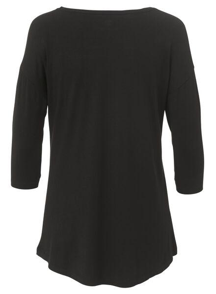 dames nacht t-shirt zwart zwart - 1000002883 - HEMA