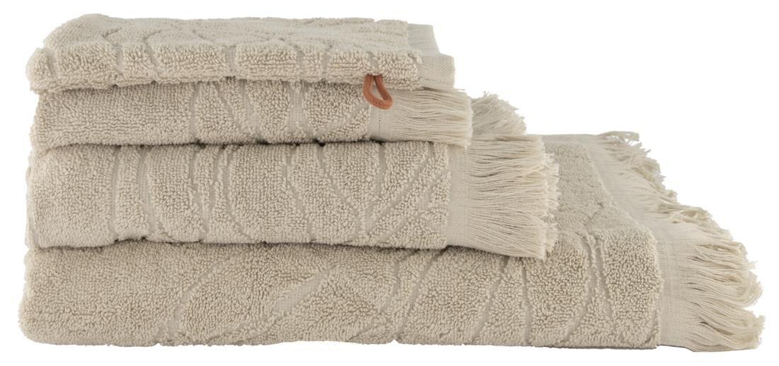 HEMA Handdoek - Zware Kwaliteit Bladeren Zand (zand)