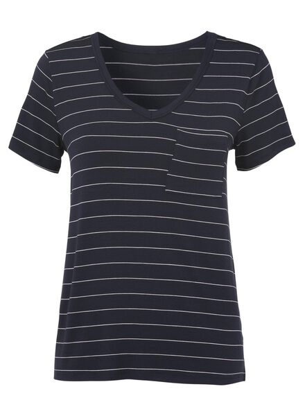 dames t-shirt donkerblauw donkerblauw - 1000011651 - HEMA