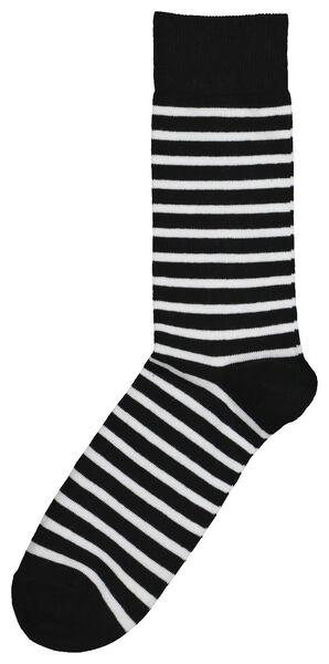 sokken voor volwassenen - mini-me zwart/wit zwart/wit - 1000019297 - HEMA