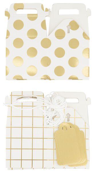 cadeaudoosjes 5x5x7.5 wit/goud - 6 stuks - 14700472 - HEMA