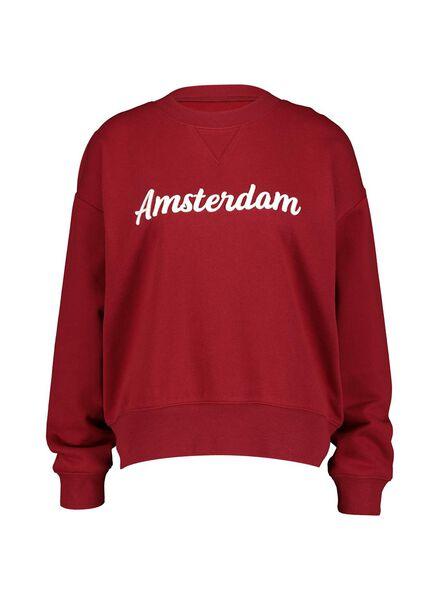 dames sweater donkerrood donkerrood - 1000014796 - HEMA
