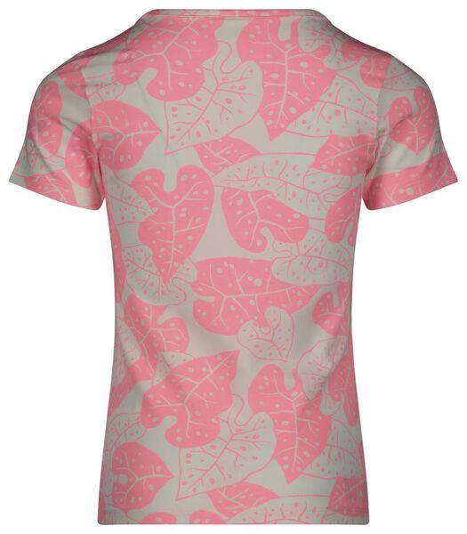 kinder t-shirt leaves roze roze - 1000023619 - HEMA