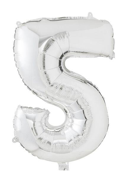 XL folie ballon cijfer 5 - 60800157 - HEMA