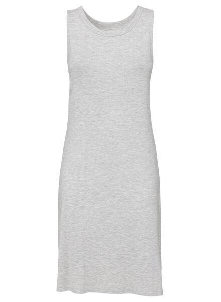 dames nachthemd viscose grijsmelange grijsmelange - 1000013160 - HEMA