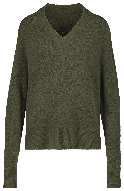 HEMA Damessweater Olijf (olijf)