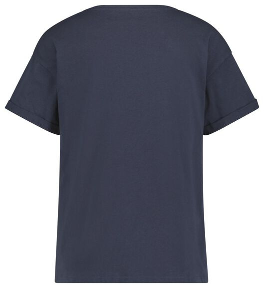 dames t-shirt donkerblauw donkerblauw - 1000019869 - HEMA