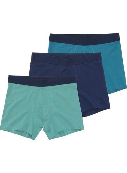3-pak herenboxers blauw blauw - 1000012204 - HEMA