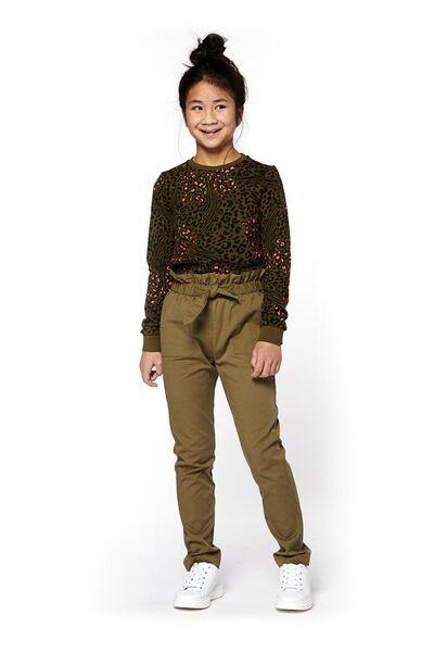 kindersweater legergroen legergroen - 1000018165 - HEMA