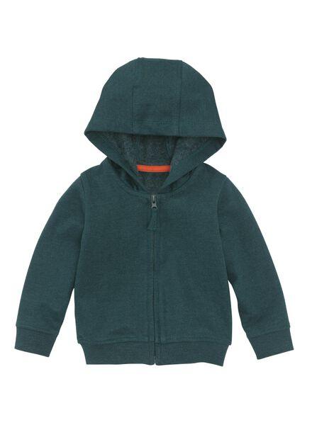 baby sweatvest donkergroen donkergroen - 1000008556 - HEMA