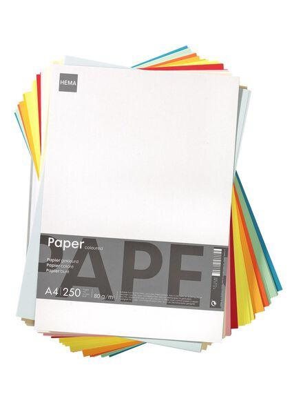 kopieerpapier A4 gekleurd 250 vel - 14811029 - HEMA